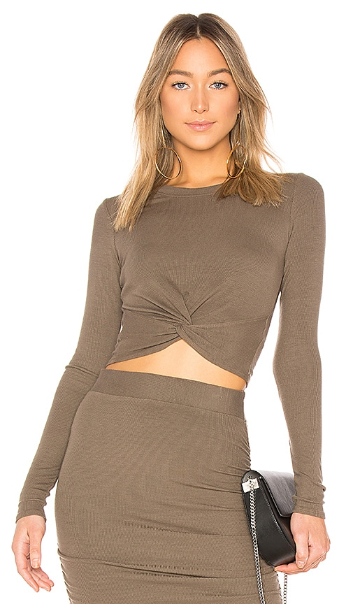 LA Made Kyli Crop Top in Army