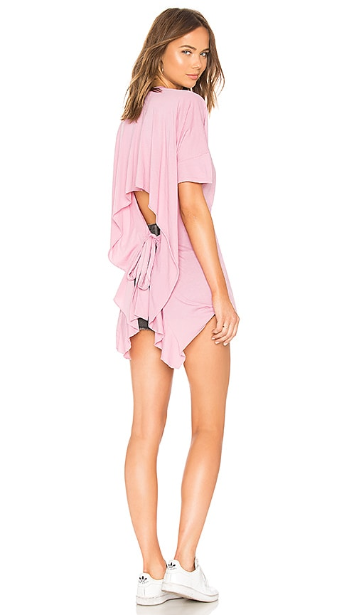 LA Made Mack Open Back Tee in Pink