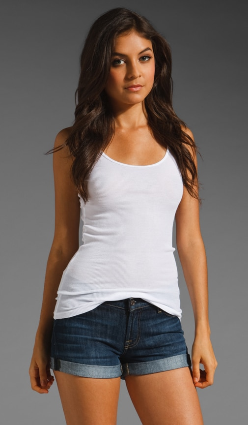 2x1 Ribbed Modal Cotton Tank