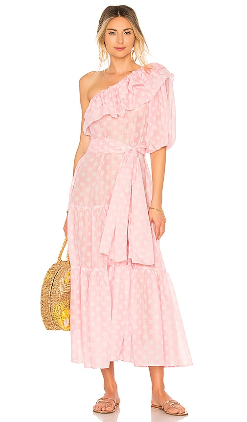 Lisa Marie Fernandez Arden Ruffle Dress in Pink