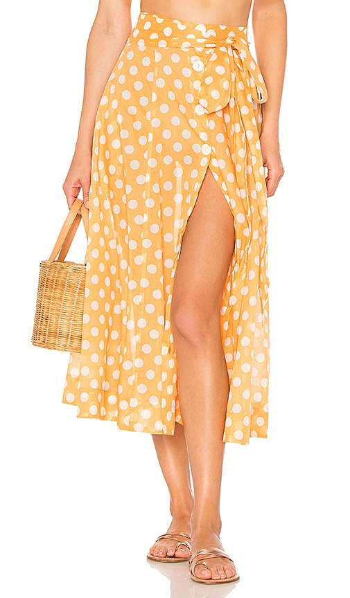 Lisa Marie Fernandez Beach Skirt in Orange