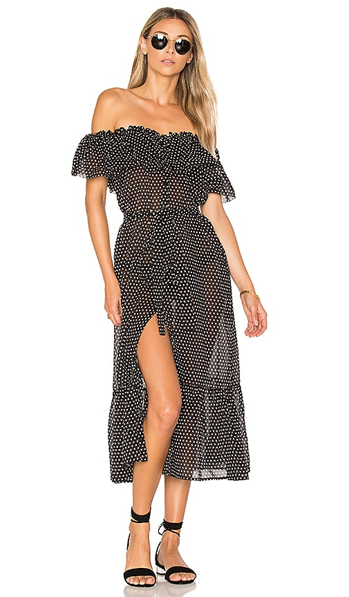 Lisa Marie FernandezMira Button Down Dress in Black & White