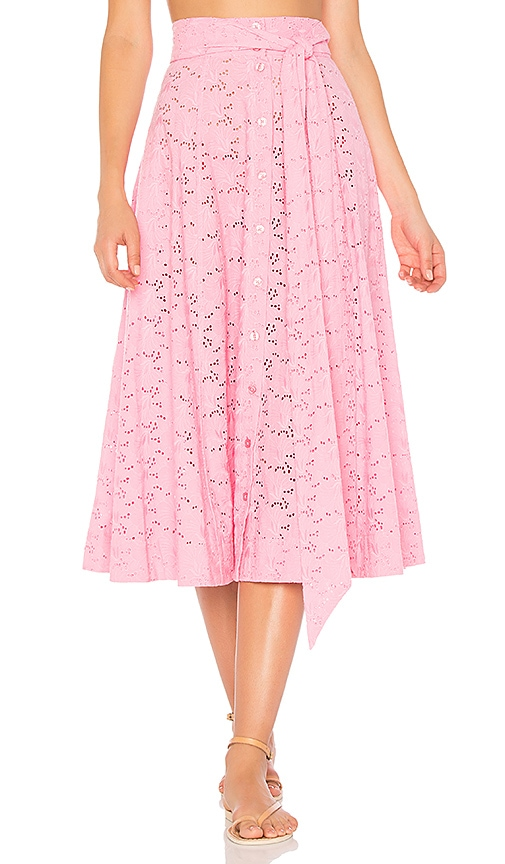 Lisa Marie Fernandez Beach Skirt in Pink