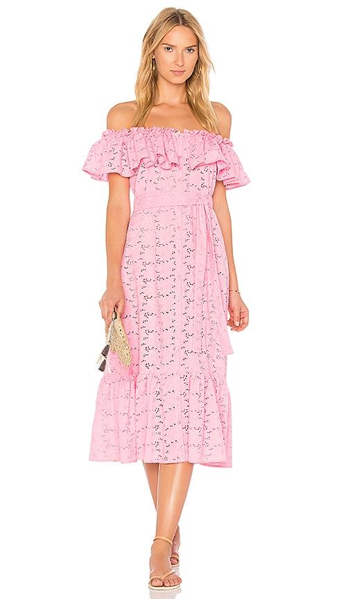 Lisa Marie Fernandez Mira Button Down Dress in Pink