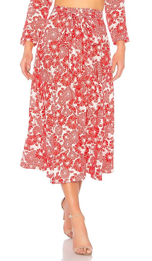 Lisa Marie Fernandez Linen Beach Skirt in Red