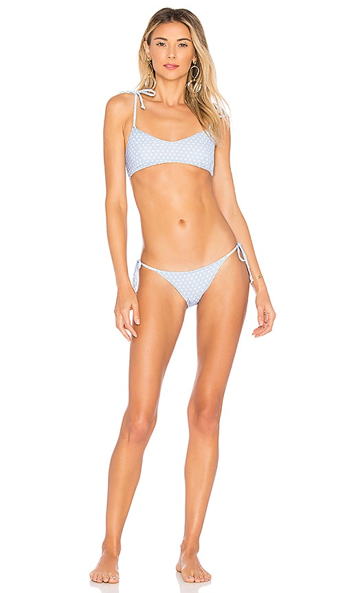 Lisa Marie Fernandez Nicole Bikini in Blue