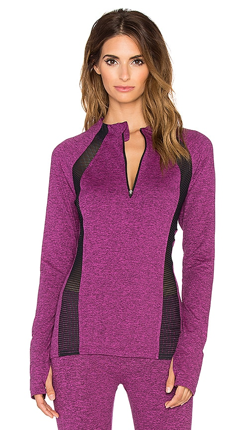 x REVOLVE Mesh Long Sleeve Top