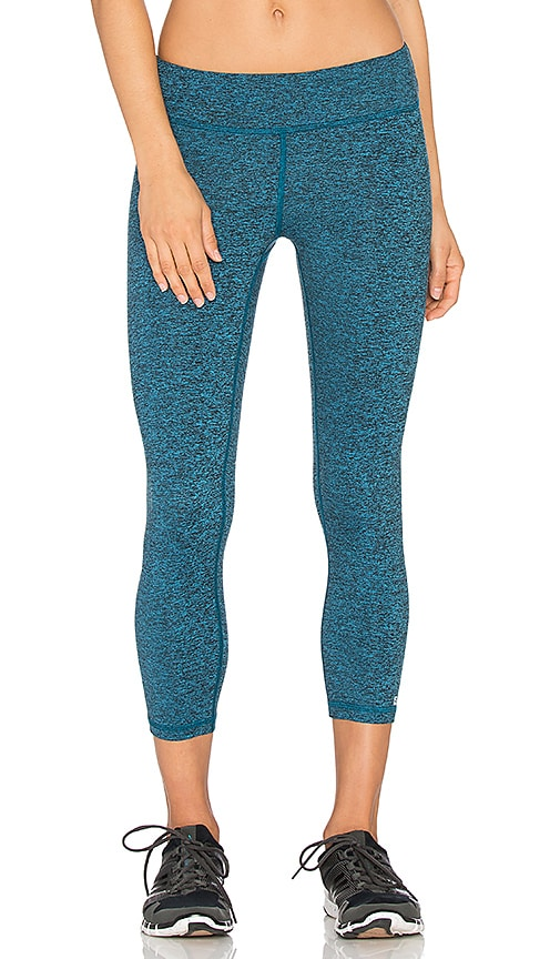 Lanston Sport x REVOLVE Cropped Legging on Black & Turq in Black & Turq