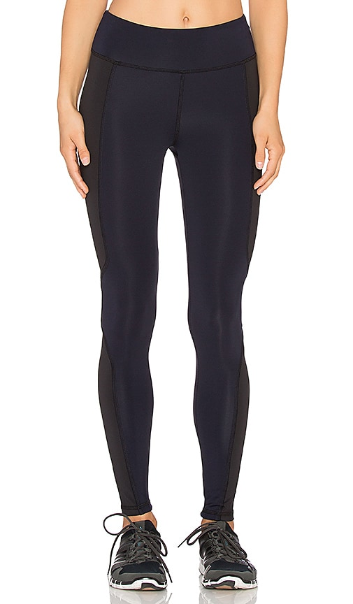 Lanston Sport Blocked Ankle Legging in Navy & Black