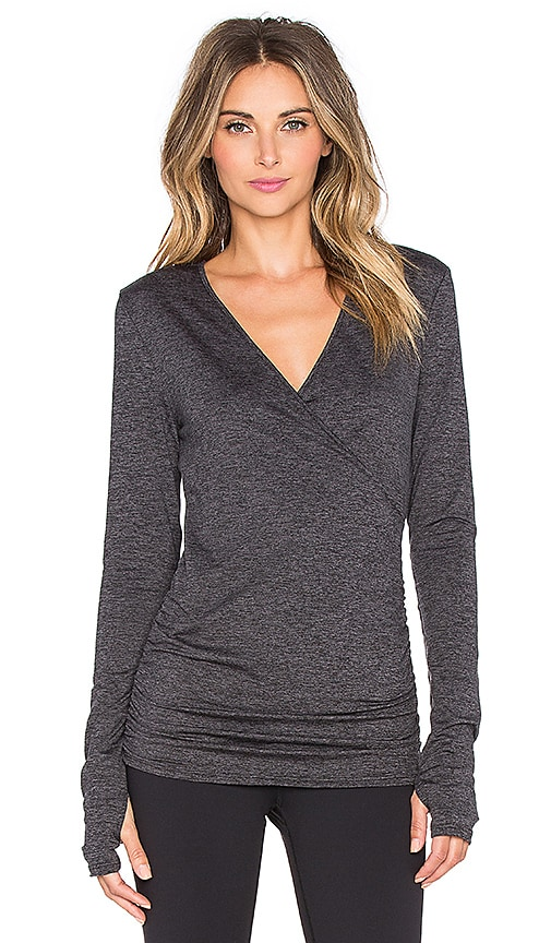 Crossed Front Thumbhole Long Sleeve Top