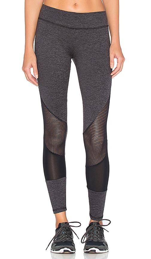 Lanston Sport Mesh Combo Legging in Grey
