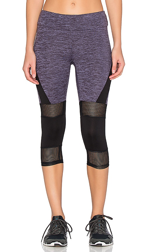 Mesh & Color Block Cropped Legging