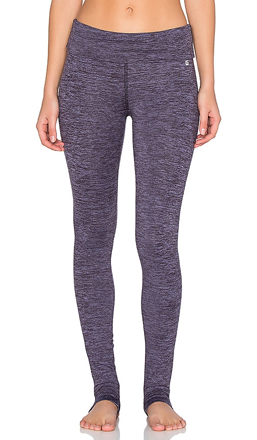 Lanston Sport Fold Over Yoga Pant in Violet