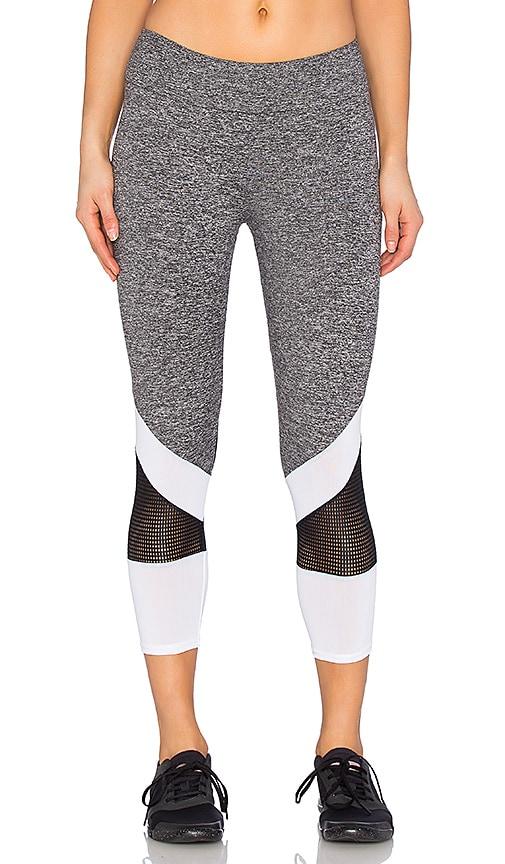 Lanston Sport Mesh Combo Legging in Gray
