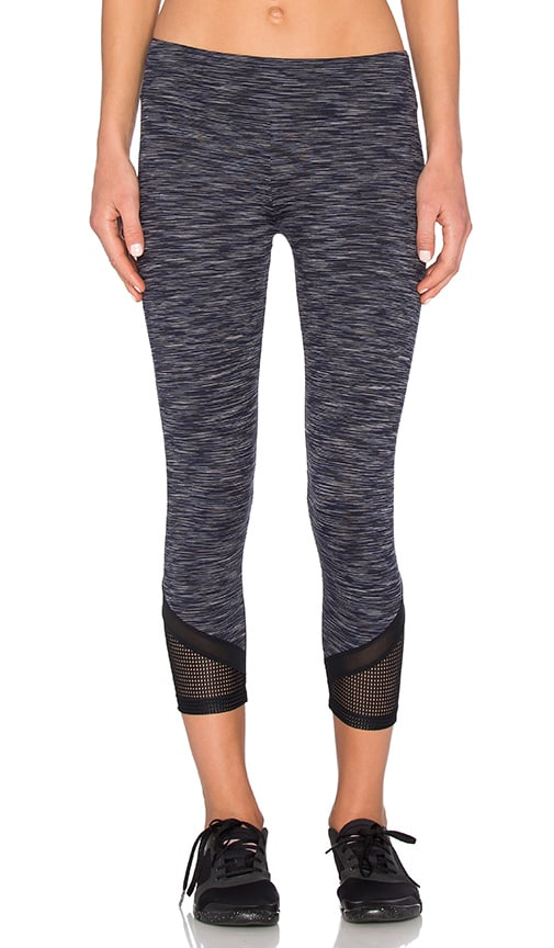 Mesh Bottom Cropped Legging
