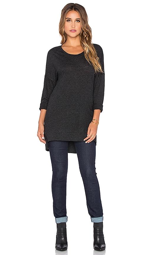Lanston Sport Tunic Sweatshirt in Black