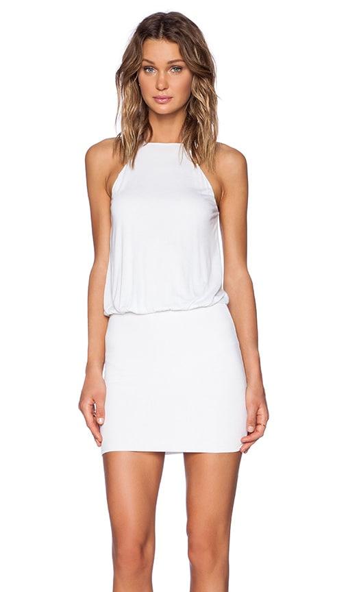 Lanston Halter Dress in White