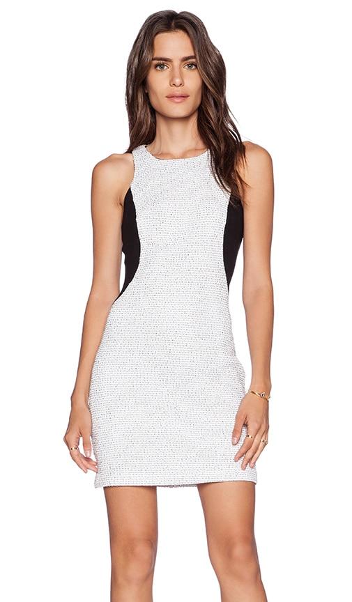 Lanston Panel Bodycon Dress in White