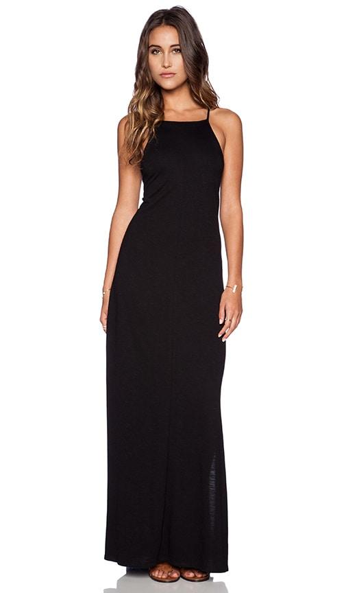 Lanston Apron Maxi Dress in Black