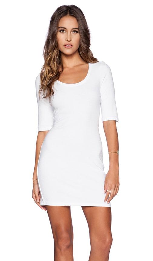 Lanston Tee Mini Dress in White