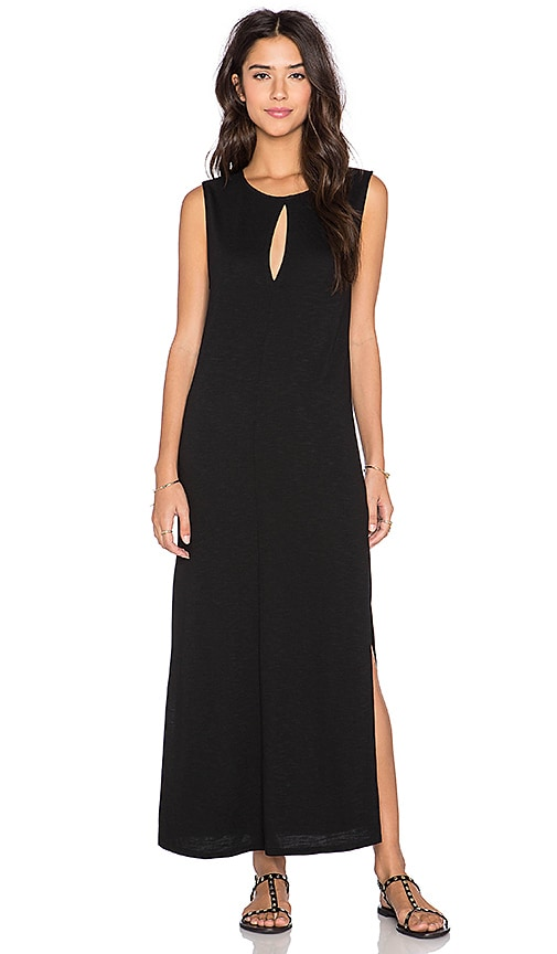 Lanston Split Drop Shoulder Dress in Black