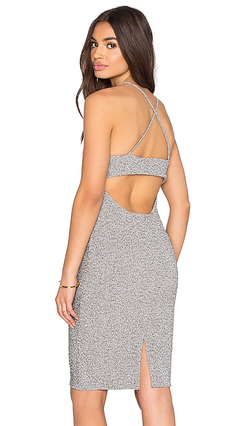 Lanston Open Back Cami Dress in Grey