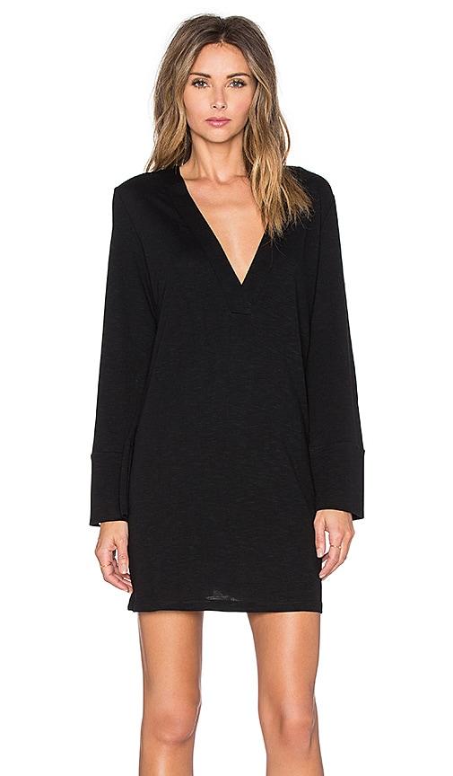 Lanston Deep V Dress in Black
