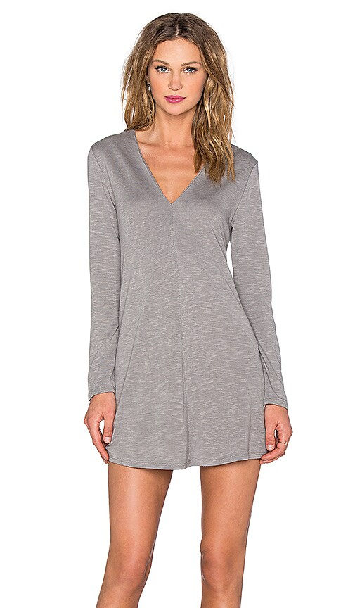 Lanston Long Sleeve Flare Dress in Mineral