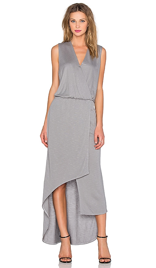 Lanston Surplice Maxi Dress in Gray