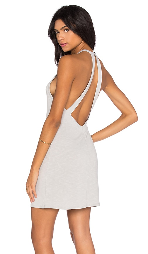 V Back Halter Dress