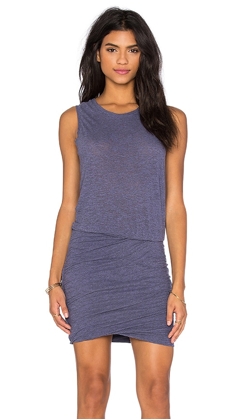 Lanston Ruched Mini Dress in Blue