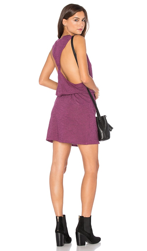 Lanston Twist Back Racerback Dress in Purple