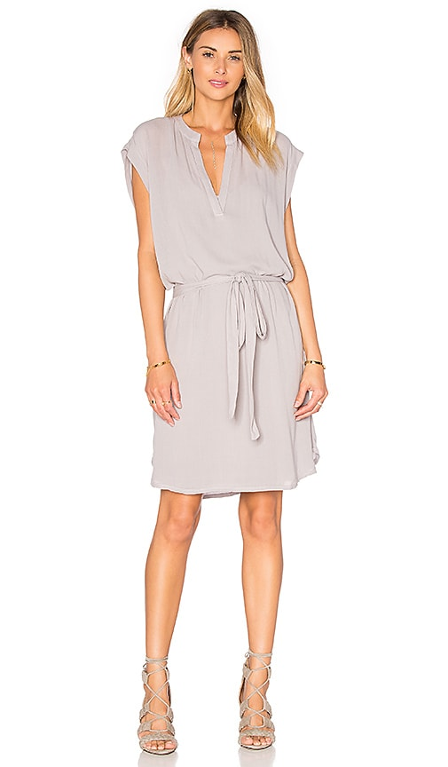 Lanston Sleevelees Shirt Dress in Grey