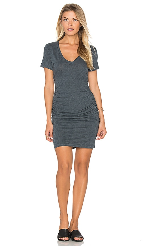 Lanston Ruched T Shirt Dress in Slate