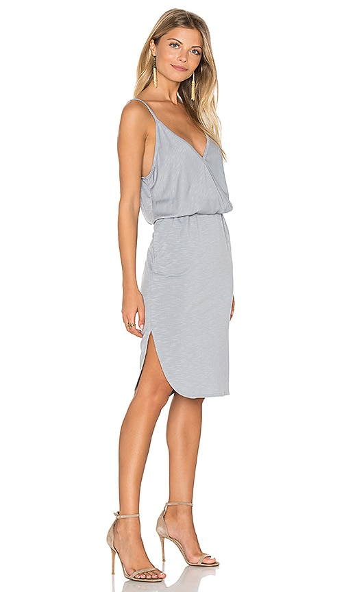 Lanston Surplice Cami Dress in Light Gray