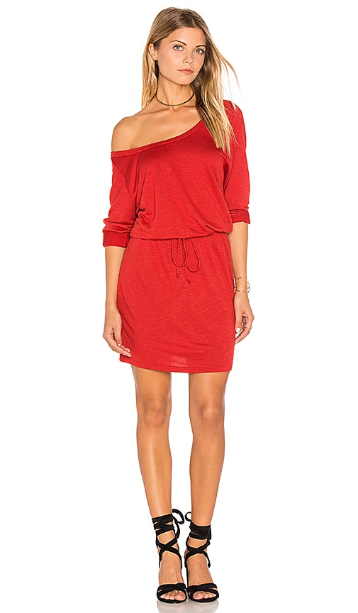 Lanston Scoop Mini Dress in Red