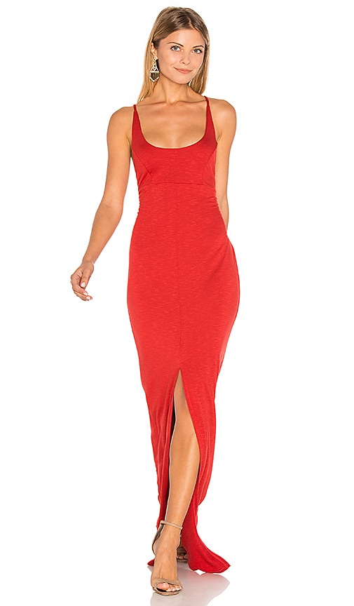 Lanston X Back Maxi Dress in Red