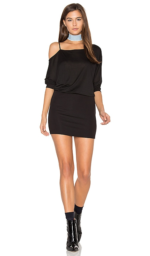 Lanston Off the Shoulder Mini Dress in Black