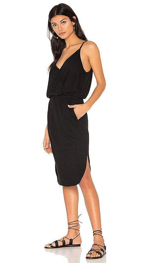 Lanston Surplice Cami Dress in Black