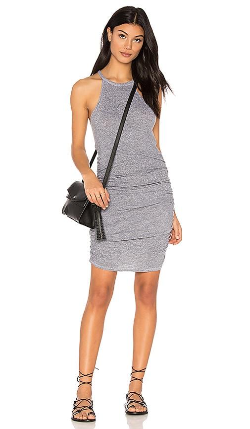 Lanston Ruched Halter Dress in Gray