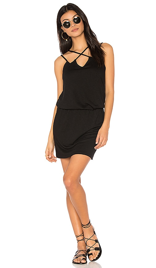 Lanston Cross Front Dress in Black