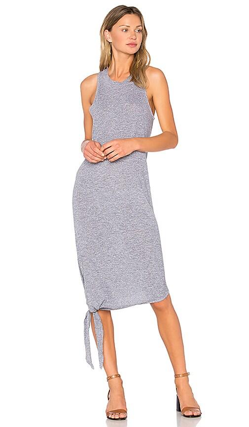 Lanston Asymmetrical Tie Dress in Gray