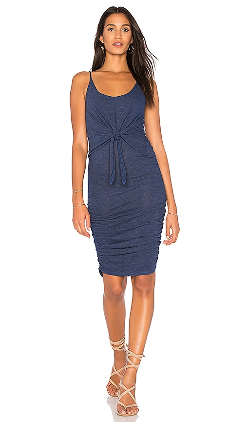 Lanston Tie Front Dress in Blue
