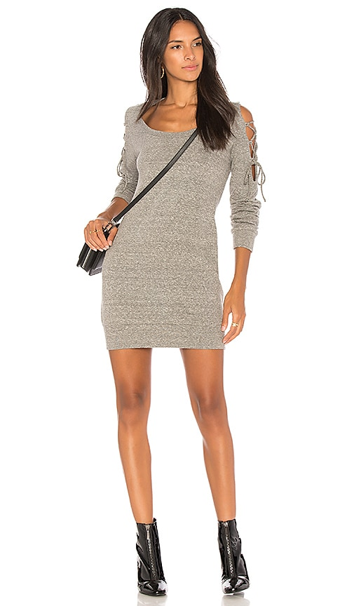 Lanston Tie Shoulder Dress in Gray