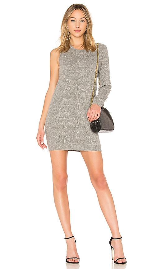 Lanston One Sleeve Mini Dress in Gray