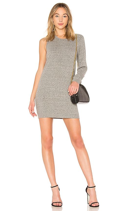 Lanston One Sleeve Mini Dress in Gray