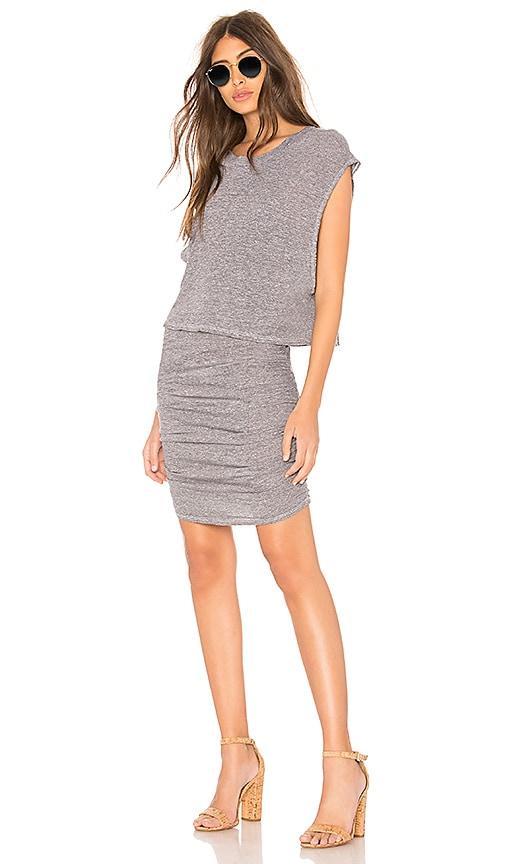 Lanston Layered Mini Dress in Gray