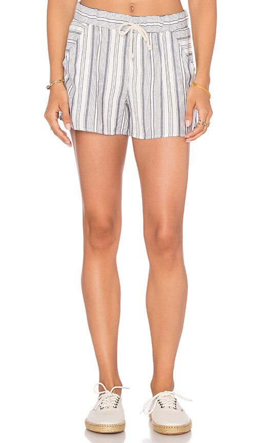 Lanston Stripe Short in White