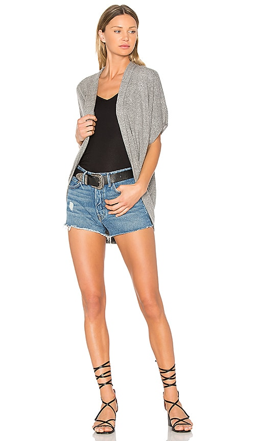 Lanston Cocoon Cardigan in Gray
