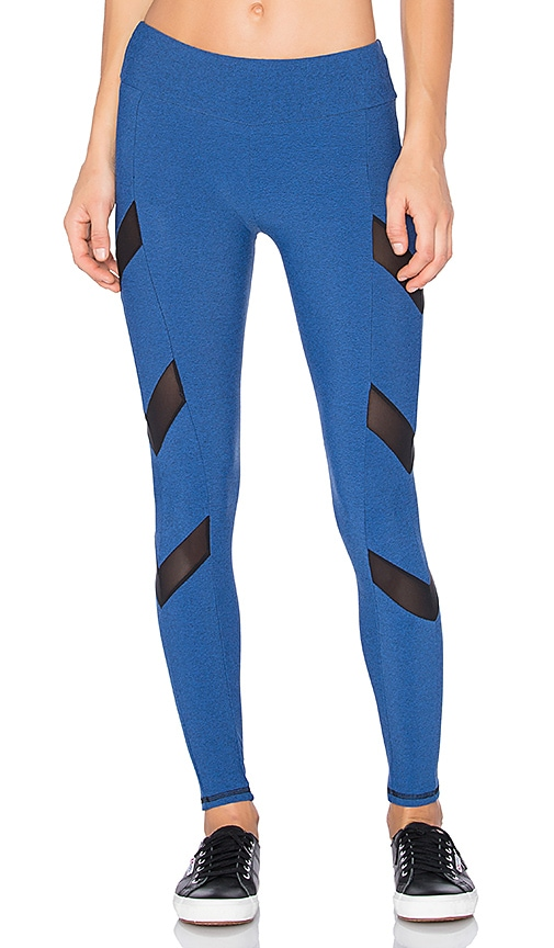 Lanston SPORT Tate Chevron Leggings in Blue